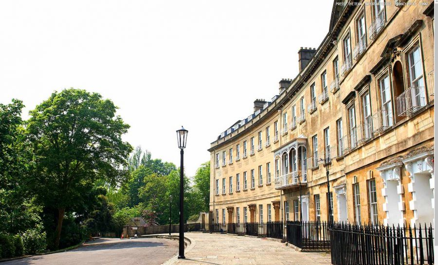 Luxury homes in Somerset Place, Bath
